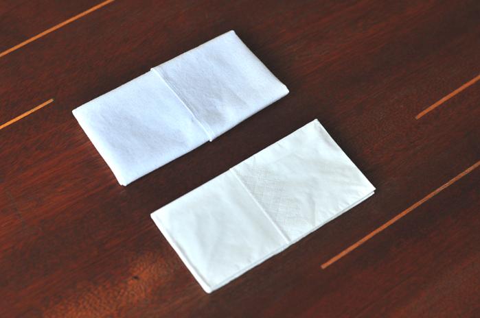Stofftaschentuch vs. Papiertaschentuch