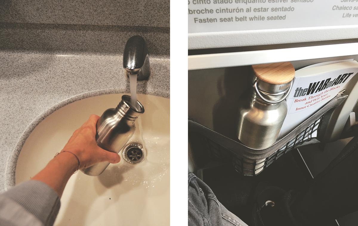Zero Waste auf Reisen Wasser auffüllen