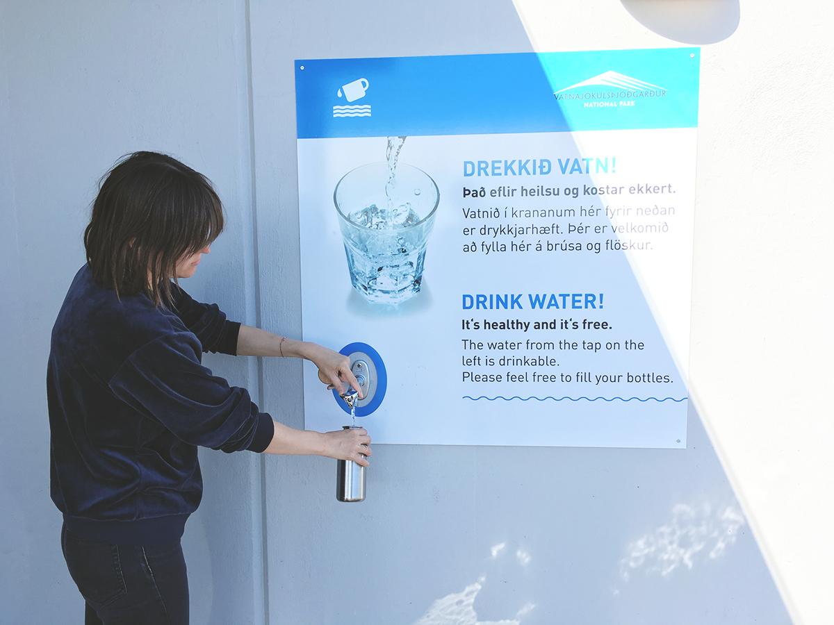 Zero Waste auf Reisen Wasserhahn in Island